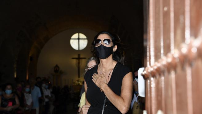 Paz Padilla, en el funeral de su marido.