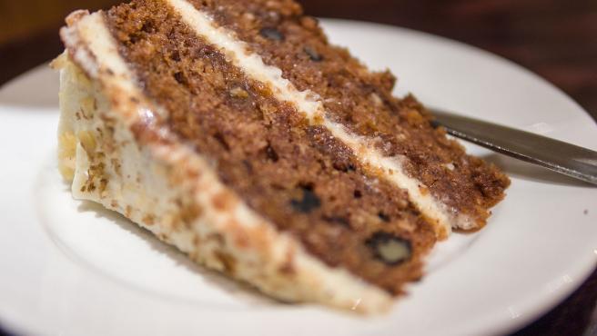 Importada de Estados Unidos, la tarta de zanahoria sigue de moda.