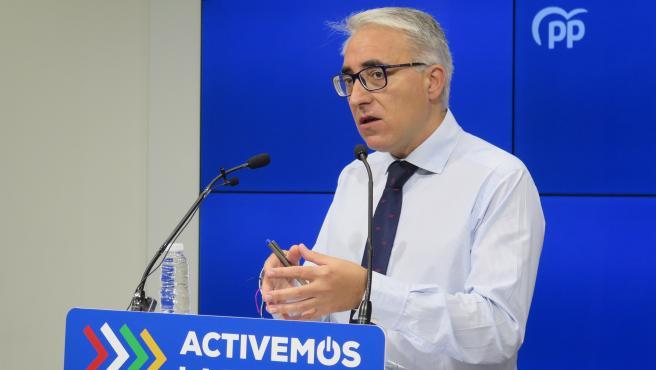 Jesús Ángel Garrido, portavoz del Grupo Parlamentario del PP riojano