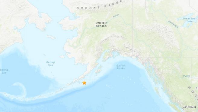 Zona de Alaska donde se ha producido el terremoto.