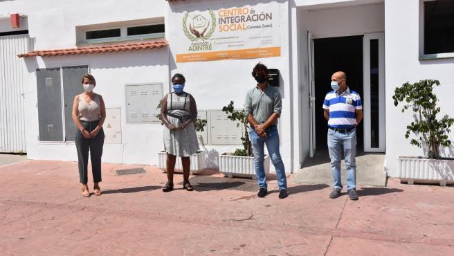 El diputado de Tercer Sector, Francisco José Martín, en una visita realizada a la sede de Adintre en Fuengirola