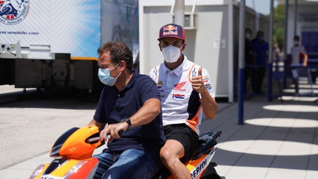 Marc Márquez, en el circuito de Jerez