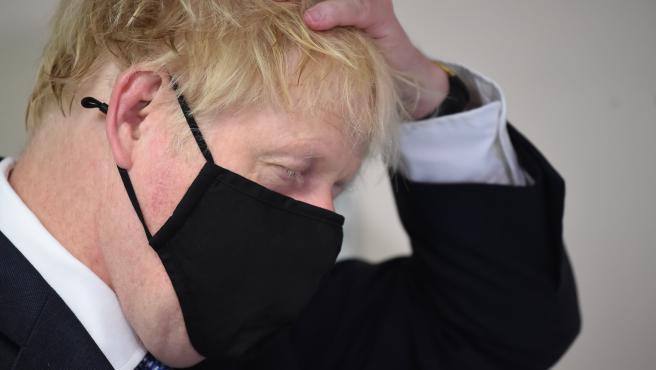 UK Prime Minister Boris Johnson visits Tollgate Medical Centre