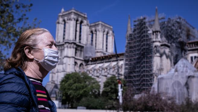 Notre-Dame Cathedral restoration in Paris