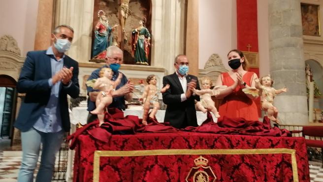 Cultura entrega los cuatro ángeles del paso del Cristo del Perdón tras haber sido restaurados