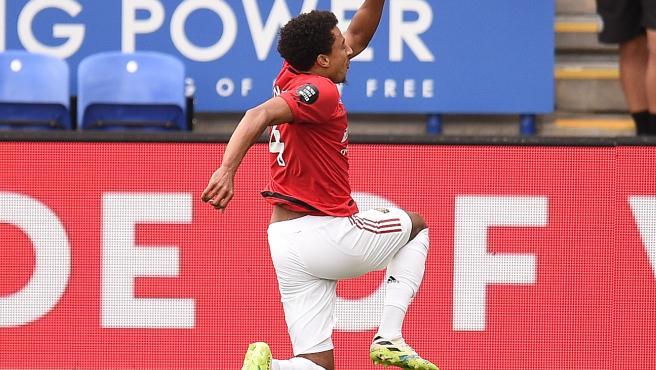Jesse Lingard celebra su único gol de la temporada