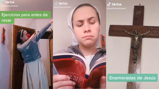 Josefina Cattaneo, la monja que arrasa en 'TikTok'.