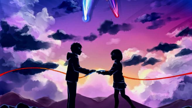 Una pareja romántica en version anime.