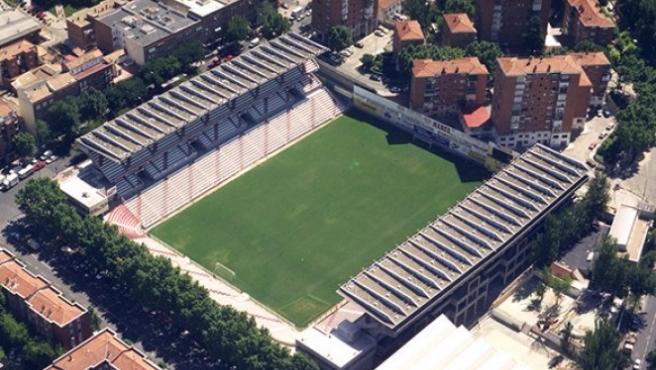 Vallecas del Rayo Vallecano Stadium in Madrid