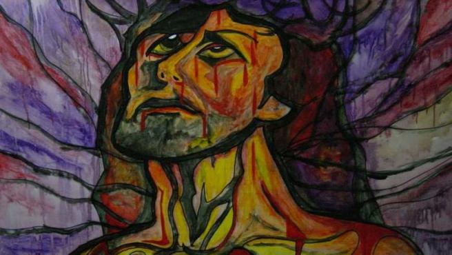 Jesucristo . Obra de Aguijarro (Antonio Guijarro Morales), pintor y cardiólogo natural de Guadix (Granada) Wikimedia Commons