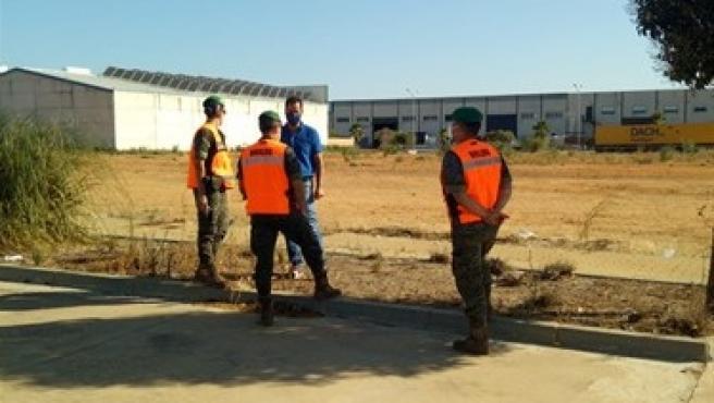 Militares del Ejército de Tierra en Lepe (Huelva). Militares del Ejército de Tierra en Lepe (Huelva) 25/7/2020