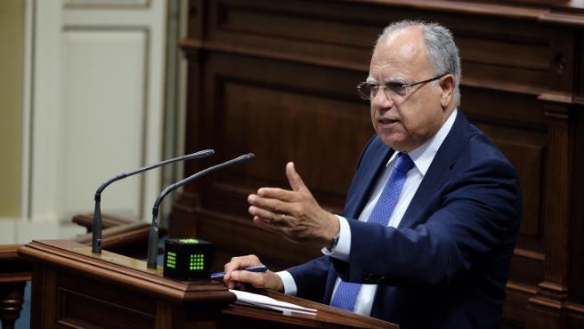 El portavoz del Grupo Parlamentario de ASG, Casimiro Curbelo
