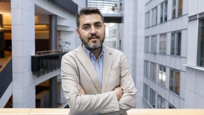 Jonas FERNANDEZ in the EP in Brussels.