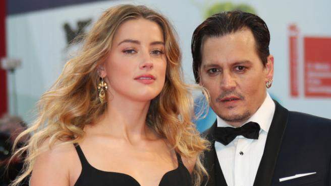 Los actores Johnny Depp y Amber Heard.