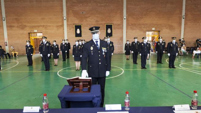 Acto de jura de los agentes de la vigesimoctava promoción de subinspectores de la Policía Nacional de Málaga