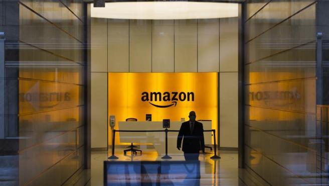Entrada a las oficinas de la sede de Amazon en Nueva York.