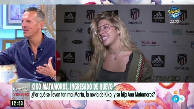 Joaquín Prat habla de la relación de Kiko Matamoros con su hija pequeña.