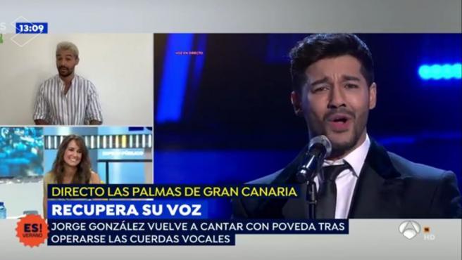 Jorge González imitando a Miguel Poveda en 'Tu cara me suena'.