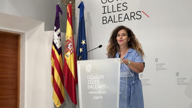 La portavoz del Govern, Pilar Costa, en la rueda de prensa posterior al Consell de Govern.