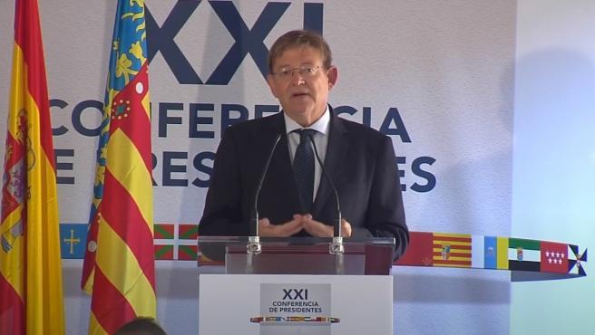 Puig comparece tras la conferencia de presidentes
