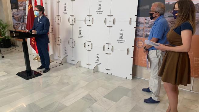 Rueda de prensa posterior a la Junta de Gobierno del Ayuntamiento de Murcia. Habla el concejal Jesus Pacheco