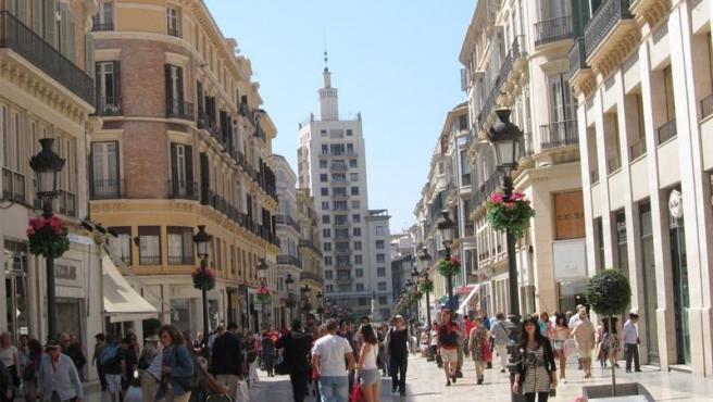 Turistas en Málaga, imagen de archivo