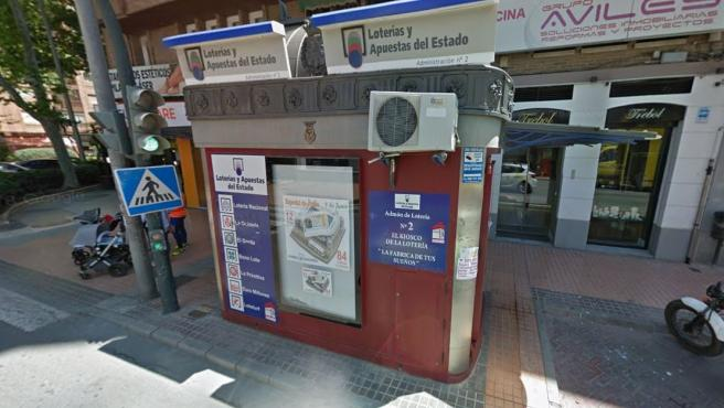 Administración de loterías en Cartagena, Murcia.