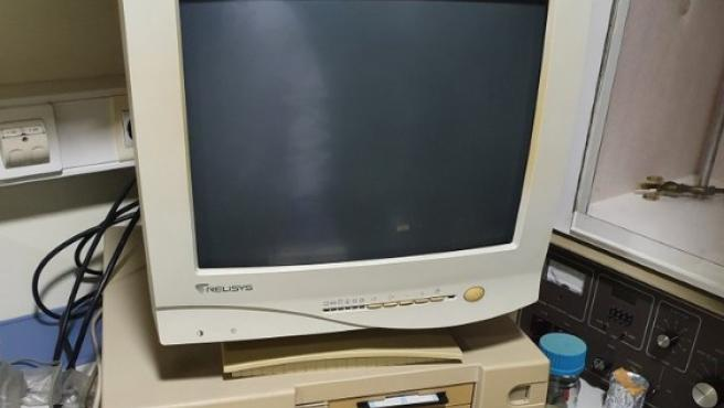 Imagen del ordenador del científico.