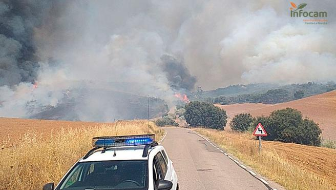 Incendio entre Madrid y Guadalajara.
