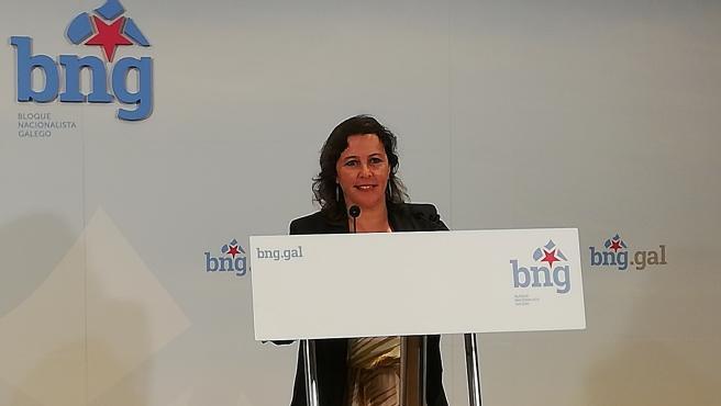 La portavoz del BNG en Europa, Ana Miranda, en una foto de archivo en una rueda de prensa