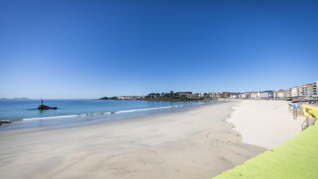 Playa de Silgar,en Sanxenxo.