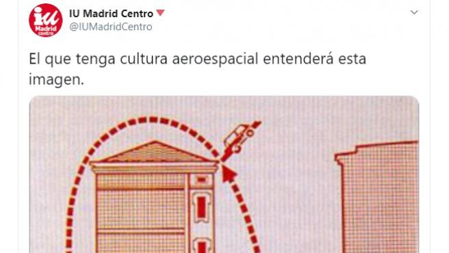 Tuit de IU Madrid.