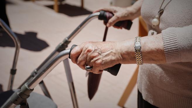 Usuaria de una residencia de mayores