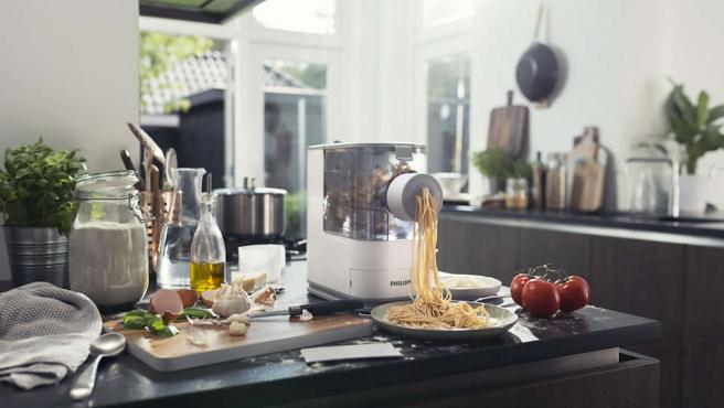 Este dispositivo es capaz de preparar cuatro formas de pasta diferentes.