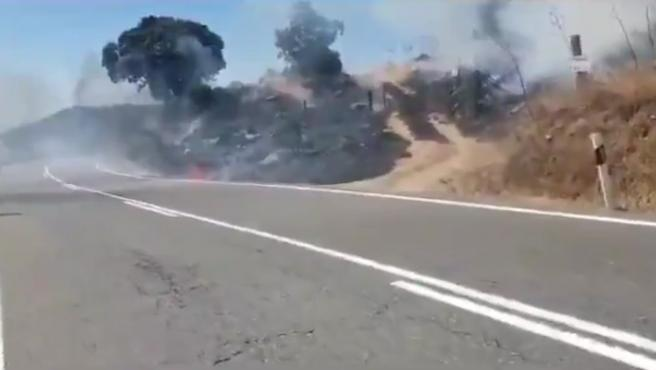 Accidente de moto que pudo causar el incendio