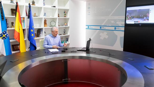 14,00 h.- O conselleiro de Economía, Emprego e Industria, Francisco Conde, reunirase por videoconferencia co comité de empresa de Alcoa. Na sala de xuntas da Consellería (4º andar). foto xoán crespo 04/06/2020