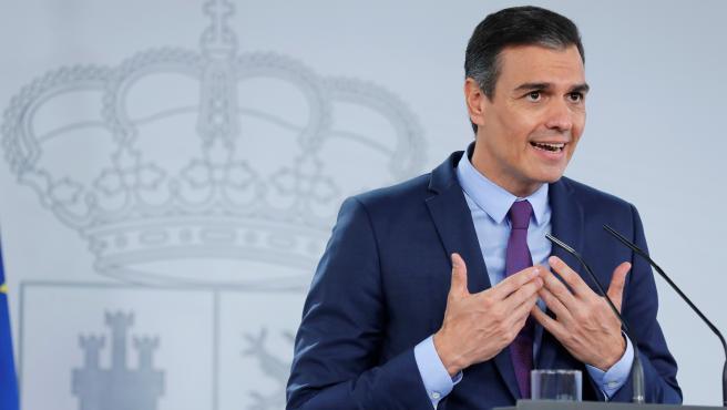 Pedro Sánchez ofrece la habitual comparecencia antes de las vacaciones.