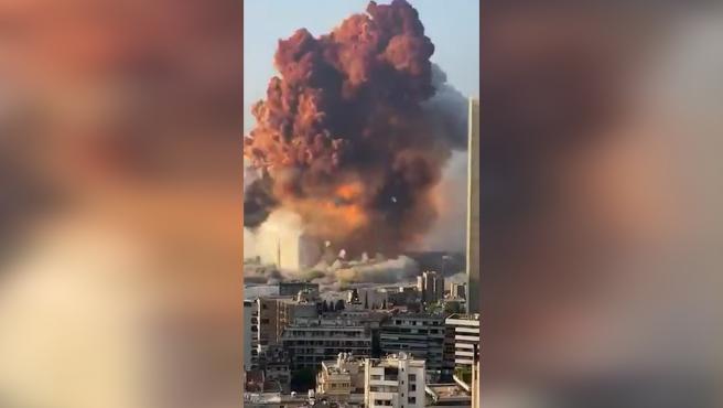 Registrada una fuerte explosión en Beirut, la capital de Líbano
