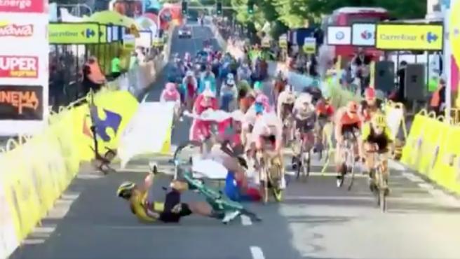 Caída en el Tour de Polonia