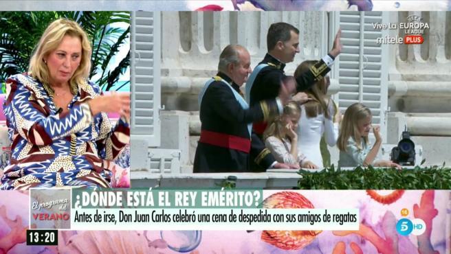 Mariángel Alcázar, periodista especializada en la familia real en 'El programa del verano'.
