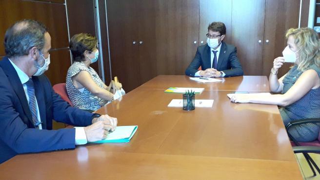 Imagen de la reunión con Iberdrola.