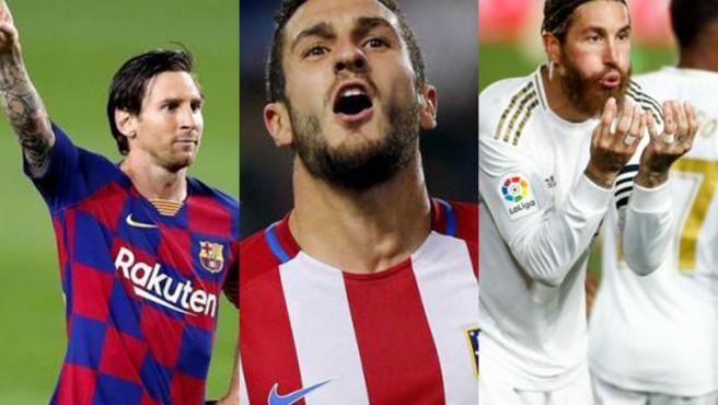 Messi, Koke y Ramos.
