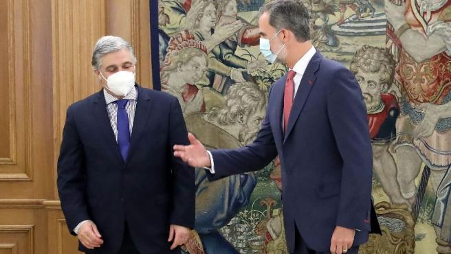 El Rey, con el ministro de exteriores de Uruguay