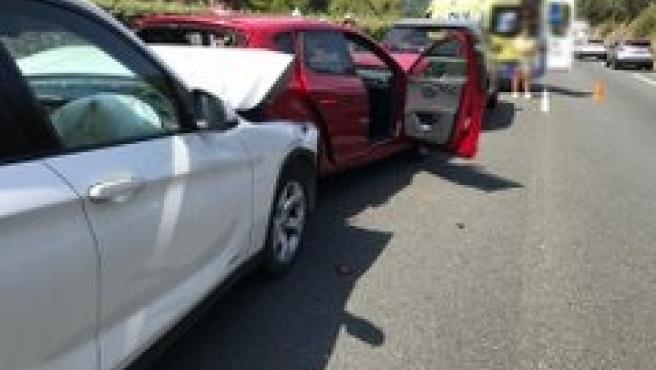 Accidente múltiple en la A-8 en dirección a Santander