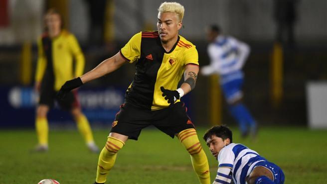El atacante venezolano, durante un partido.