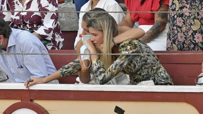 Ana Soria, después de ver la cogida de Enrique Ponce.