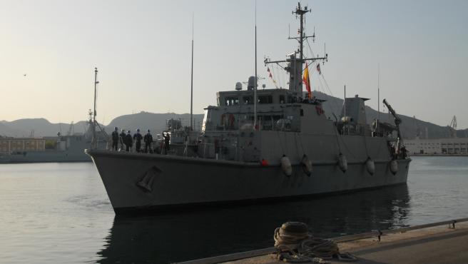 El cazaminas 'Tambre' (M-33) regresa a Cartagena