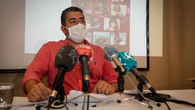 El director del Stone& Music, Carlos Lobo, en rueda de prensa