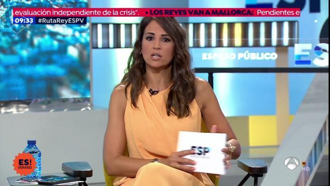 Lorena García, presentadora de Espejo Público en ausencia de Susanna Griso.