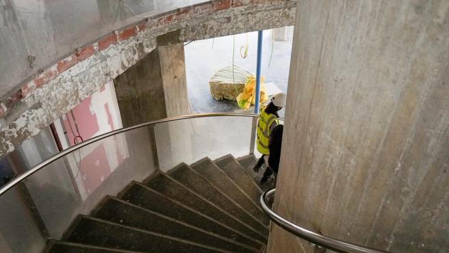 Estado de las obras en el interior del antiguo edificio de la APT
